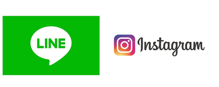 LINE instaglam 公式ロゴ