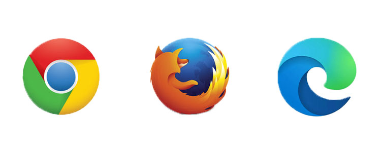 Google Chrome、Firefox、Microsoft Edge