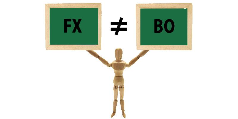 FXとバイナリーオプションでは要件が違う